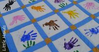 Hand Print Animals Quilt would love this with all the kids hand prints on it