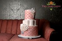 | Peach Pink Wedding Cake Toronto