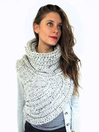 Ravelry: Huntress Vest inspired by Katniss Cowl Catching Fire Hunger Games Vest Shawl Scarf pattern by Alexandra Tavel