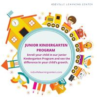 Junior Kindergarten is an early learning program for kids within a safe, secure, interactive and creative environment for developing listening and social skills which includes certain activities like dancing, singing, playing with curiosity and critical t...