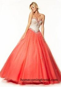 Beaded Strapless Corset Ball Gown Prom Dresses 2015