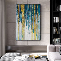 Gold art Abstract acrylic Paintings on canvas framed wall art green painting extra large cuadros abstractos wall picture $89.00