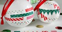 Nest of Posies: Washi Tape Ornaments. So cute & simple to make.
