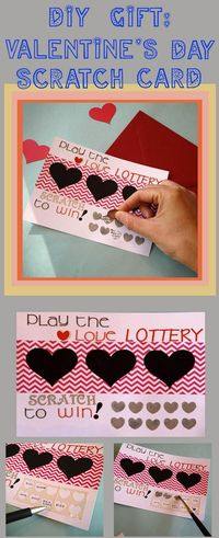 Making a lottery-inspired scratch-off Valentine is an easy way to put a fun spin on a handmade Valentine for your significant other. The added element of myster