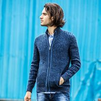 Men cardigan sweater famous brand clothing slim fit zipper male sweaters top quality cardigan for men $83.70