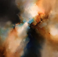 Cast From Darkness' Original abstract painting on large canvas by Simon Kenny $9800.00