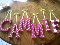 name letters for nursery on ribbon