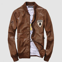 Cheap Men Brown Motorcycle Leather Jacket Online