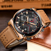 Leather Automatic date Quartz Watches, Mens Waterproof Sport Watch $60.99
