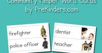Here is a new set to add to the Picture-Word Cards collection. This set goes with my Community Theme, which I'm doing with my class this month. I use these card
