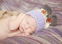 crochet newborn hat crochet hat purple twin by lovewhatyouwear, $30.00