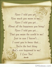 How much you mean to me love poem