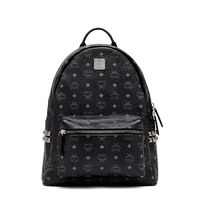 MCM Medium Stark Side Studded Backpack In Black