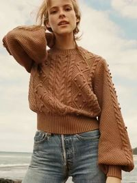 Loose Retro Wild Women's Lantern Sleeve Sweater $79.00