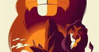 Disney / Reinvented Disney posters by Mondo-The Lion King