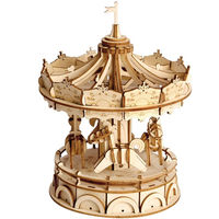 3D Jigsaw Puzzle,Wooden Craft Kit,Carousel model,Decoration $33.00