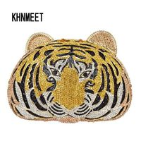 Women Animal tiger diamond Evening bag $178.17