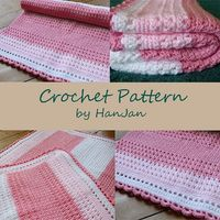 Ravelry: Phoebe's Pink and White Baby Cross Over Blanket pattern by HanJan Crochet by Hannah Reed