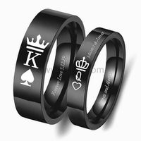 Crown Engraved Promise Rings for Him and Her https://www.gullei.com/crown-engraved-promise-rings-for-him-and-her.html