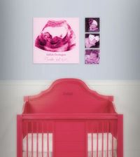 """Baby Shower Gift Ultrasound Canvas Print - Baby's Room Decor - 12x12"""" Professional Canvas"""