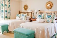 twin queen bedroom - and a favorite quadrille fabric.