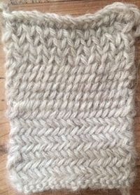 Christine Guest recently wrote a really fascinating series of blog posts about a stitch from Barbara Walker's Second Treasury that's not commonly used: the Mini