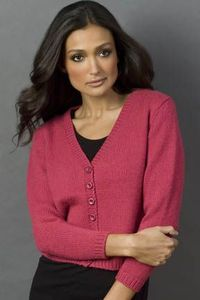 pattern 'ZARA Classic Cardigan' by designer Jason Vernon for Tahki Stacy Charles, Inc., Supplying Knitters with Fabulous Fibers and Yarn ~ FREE PDF download