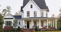 I can't even. An old farm house is all I want in life. Especially a gorgeous updated one with a wraparound porch. Someday!