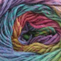 Wisdom Yarns Poems Silk (very pretty- love the bright colors, will have to buy several skeins. )