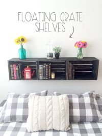What's better than floating shelves? Nothing. Well, except for making it yourself and how cheap this project was. $35 + stain will get you floating crate shelves. I had three of these �€�