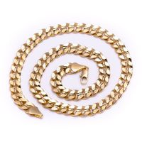 MEN'S LUXURY 14K GOLD PLATED 10MM BLING SOLID CURB CHAIN NECKLACE  Colour: Gold Material: Brass Technique: This product looks & feels like a real piece of gold jewellery Special Features: This product has been SPECIALLY MANUFACTURED to LOOK...
