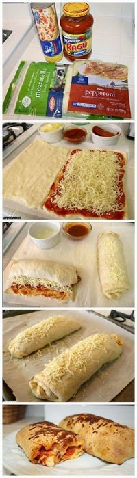 Easy Pizza Roll-Ups, Ive done something like this before but this looks even easier then the way I did.
