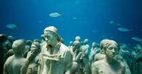 Sculptor Jason de Caires Taylor has made underwater sculpture gardens in Mexico and the West Indies, which turn into artificial reefs over time�€�