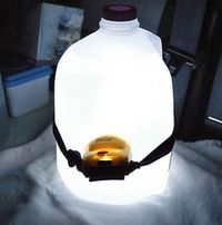 place your headlamp on a full water jug with lights facing into the bottle and see how it glows - makes a great light