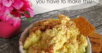 I just love deviled eggs! I look forward to them each Easter. However, I never knew how much I would get addicted to this egg spread. It's wonderful with any ty