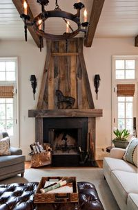 Fireplaces were originally invented to serve as a means of warming up a space. They were originally used as actual heating instruments and their great advantage