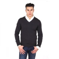 V 1969 Italia mens V neck sweater 9801 SCOLLO V MORO $300.00