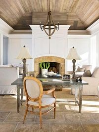 ceilings the most unused area in a lot of rooms not in this room it could be a great remake out of old shipping palletes a fun DIY project