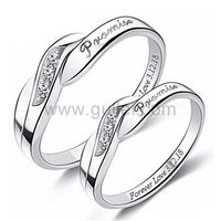 Customized His and Hers Promise Rings Set of Two 4mm https://www.gullei.com/unique-engraved-sterling-silver-promise-rings-set-of-two.html