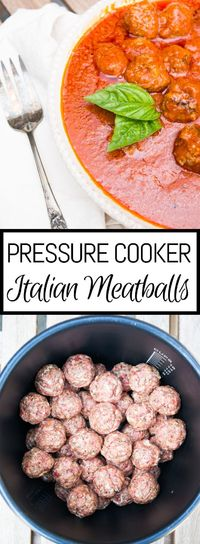 Pressure Cooker Meatballs. The most tender meatballs you've ever had in your life and cooked in only 5 minutes!