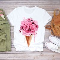 $2.85 Aliexpress - Fashion popular Floral Flower Women T Shirt harajuku ulzzang 90s girls Short Sleeve Lady Casual Streetwear Graphic Tops female. Buy it from Aliexpress.com