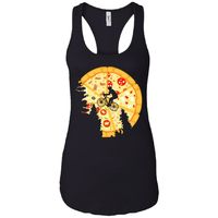 Pizza Moon - Pizza Art - Women's Racerback Tank Top $19.97