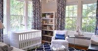 Navy nursery - add a touch of pink and make it perfect!