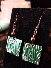 Patina Copper Earrings $10.00