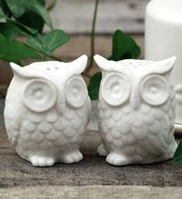 Owl Salt + Pepper Shakers