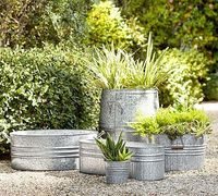 A fixture on American farms, galvanized metal has earned our affection for its simple style. Its ability to stand up to moisture makes it ideal for use as a planter fitted with container plants, any-weather outdoor storage or an ice-filled cooler �€...