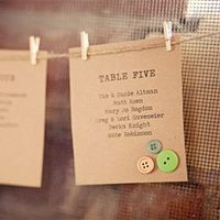 Cute idea for table assignments at a wedding