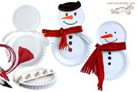 paper plate snowman plus 5 more paper plate ideas for Christmas