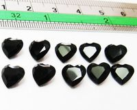 Heart Onyx Loose gemstones, Gemstones for for jewelry Black Stone 10 Onyx Heart cut Calibrated Cabochon Heart shape 7x7 mm 9.76 carat $23.00
