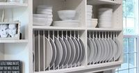 I'm taking the doors off 2 of my cabinets, adding plate racks and paint or paper the back to make my blue willow china POP. I'm not sure what color to choose.....hhhmmmm